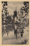 Vedere monocroma, 90 x 138 mm, necirculata, castelul Vajdahunyad, Budapesta, Ungaria, Fotografie
