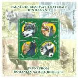 2011 - fauna din rezervatii, bloc stampilat
