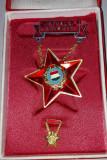 Insigna Ungaria - fruntas, cu miniatura, in etui