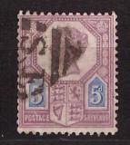 Marea Britanie 1887 - 5p stampilat Mi93