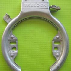 Treelock 2-Lacat vechi Bicicleta colectie din metal cu cheie stare buna.