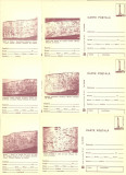 1980 - muzeul de istorie, set intreg postal 2 maro