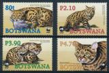 Botswana 2005 - Fauna WWF, pisica salbatica, serie neuzata