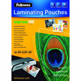 Fellowes Folie Laminator Fellowes, A4, 125 microni, gri metalic