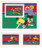 DPR Korea 1979 - Year of the Child, fotbal serie+colita neuzata