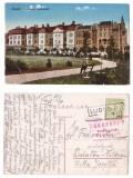 1918(aprox.) CP cu stamp LUGOJ gara si cenzura Timisoara