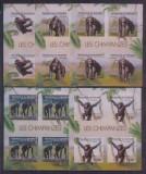 Burundi 2012 - Fauna, cimpanzei, serie blocuri ndt neuzate