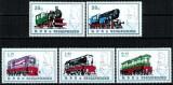 Albania 1989 - Locomotive, serie neuzata