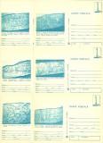 1980 - muzeul de istorie I, set intreg postal 2 albastru