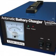 Incarcator acumulator auto automat marca Streetwize 12V 12Amp redresor cu ampermetru, cu protectie
