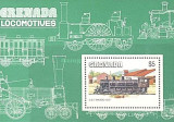 Grenada 1984 - locomotive, colita neuzata