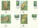 Tanzania 1989 - fauna wwf, serie FDC