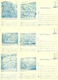 1979 - muzeul de istorie I, set intreg postal 2 albastru