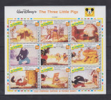 St Vincent 1992 - Disney, cei 3 purcelusi, bloc neuzat
