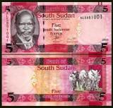 Sudan Sud 2015 - 5 pounds UNC