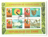 Zaire 1979 - River Expedition, bloc stampilata 2