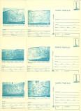1980 - muzeul de istorie I, set intreg postal 1 albastru