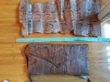 Geanta plic din piele de sarpe originala si piele de sarpe identica.