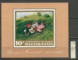 Ungaria 1966 - Pictura I, colita neuzata