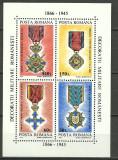 1994 - decoratii militare, bloc neuzat