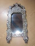 Oglinda veche de lemn cu intersii cu  sidef
