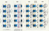 Finlanda 1992 - tehnologie, serie in bloc de 15 stampilata
