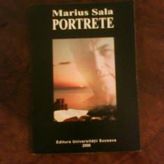 Marius Sala Portrete, ed. princeps, cu autograf si dedicatie, Alta editura