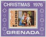Grenada 1976 - Craciun pictura Titian, colita neuzata