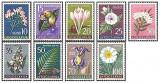 Iugoslavia 1957 - flori, serie neuzata cu sarniera