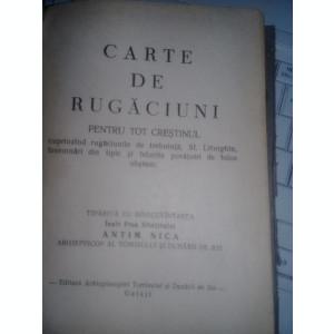 CARTE DE RUGACIUNI VECHE,