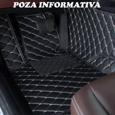 Covorase auto PREMIUM LUX PIELE Dacia Duster 2009-2017 cusatura BEJ AL130818-33 foto