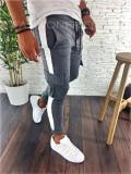 Pantaloni de trening gri cu buzunare laterale - LICHIDARE DE STOC - A2291 F1-3