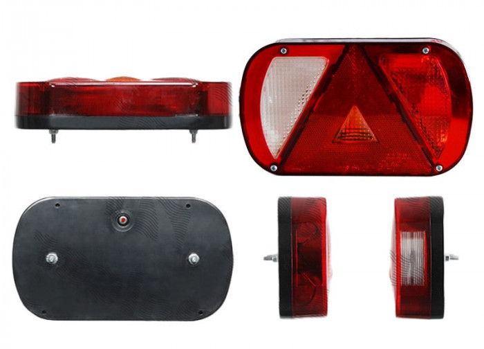 Lampa auto BestAutoVest pentru remorca , partea dreapta 12/24V , 234x137x32mm cu lampa mers inapoi , 1 buc. - PRODUS RESIGILAT - CRAPAT