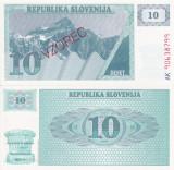 SPECIMEN SLOVENIA 10 tolarjev 1990 UNC!!!