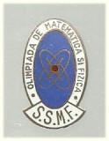 Insigna Olimpiada de Matem. si Fizica, tip 1