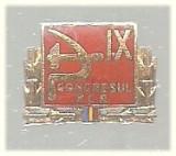 Insigna IX-lea Congr. PCR