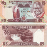 Zambia 1988 - 5 kwacha UNC