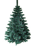 Brad artificial 150 cm, Pin cu varfuri albe, suport verde inclus
