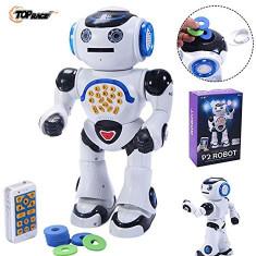 SUPER ROBOT INTELIGENT BRAT,DE MARE DIMENSIUNE,TELECOMANDA,SUNETE,LUMINI,DANS., Plastic, Unisex