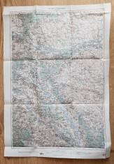 Harta Cernauti 1914 - editata in Austria - 62 x 43 cm foto