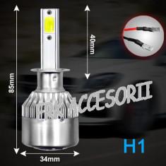 Set bec LED H1 30W - 3200 lumen CULOARE ALB RECE - 6000k 12V - 24V AL-080818-8