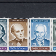 ROMANIA 1992 LP 1299  ANIVERSARI COMEMORARI PERSONALITATI  SERIE  MNH, Nestampilat