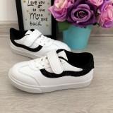 Adidasi albi negri cu scai sclipici tenisi pantofi sport fete 26 27 28 29 30 31