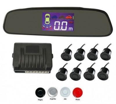 Senzori parcare fata spate cu 8 senzori cu display in oglinda S502-8 foto