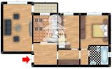 Apartament 3 camere de vanzare Nicolina - C.U.G.,72000 EUR, Etajul 1