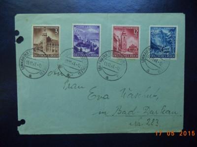 1941  Germania ( Reich )  -  Plic cu serie completa ( Mi 806 - 809 ). foto