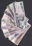 A2222 Korea Coreea 5 10 50 100 200 500 1000 2000 5000 5000 won UNC SPECIMEN