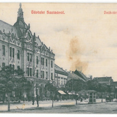 3830 - SATU-MARE, Market, Romania - old postcard - used - 1910, Circulata, Printata