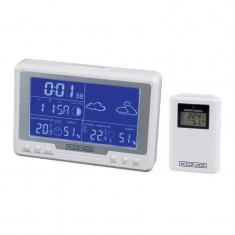 Statie meteo wireless, LCD, afisaj calendar, alarma, interior/exterior, Konig