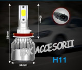 Set bec LED H11 30W - 3200 lumen CULOARE ALB RECE - 6000k 12V - 24V AL-080818-8